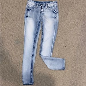 'Almost Famous' skinny distressed jeans